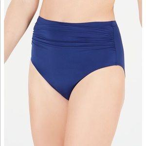 Indigo Ralph Lauren Ruched High Waist Bikini Bttom